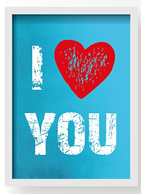 All About Wall I Love You Poster Mavi